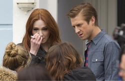 Карен Гиллан, фото 143. Karen Gillan - On The Set Of Doctor Who In Cardiff - 4/5/12, foto 143